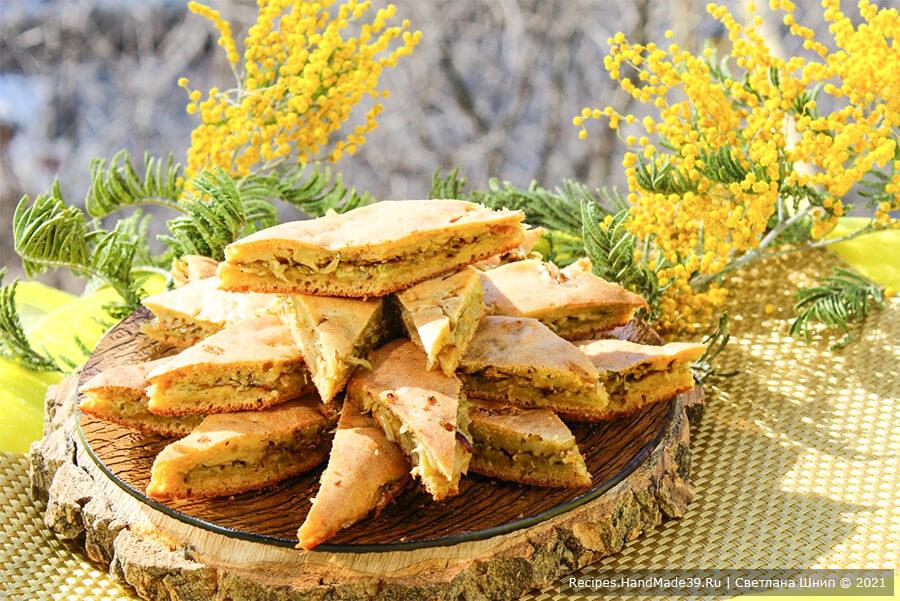 Пирог с капустой на кефире – пошаговый кулинарный рецепт с фото