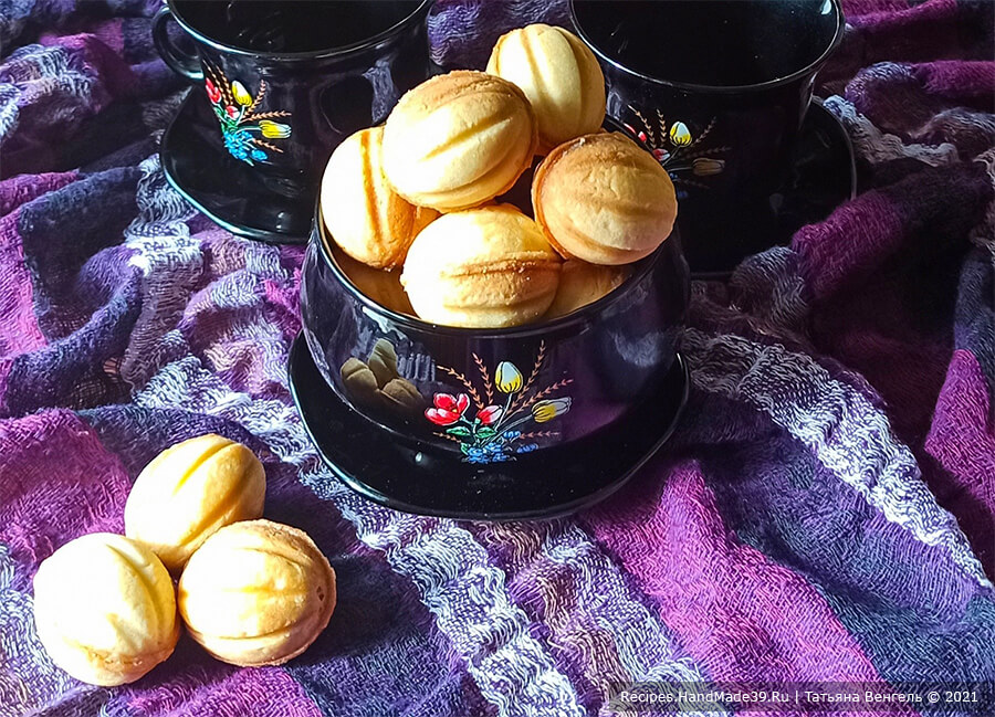 Орешки с заварным кремом – пошаговый кулинарный рецепт с фото