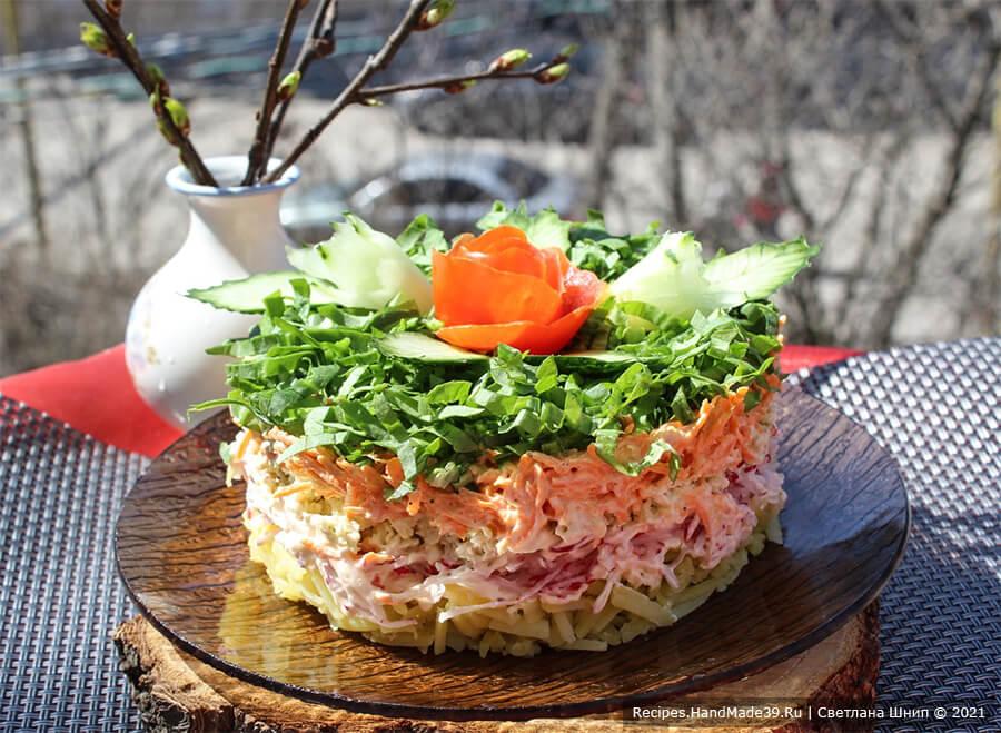 Салат с редькой и редисом – пошаговый кулинарный рецепт с фото