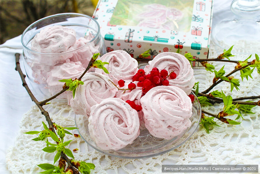 Зефир из красной смородины – пошаговый кулинарный рецепт с фото