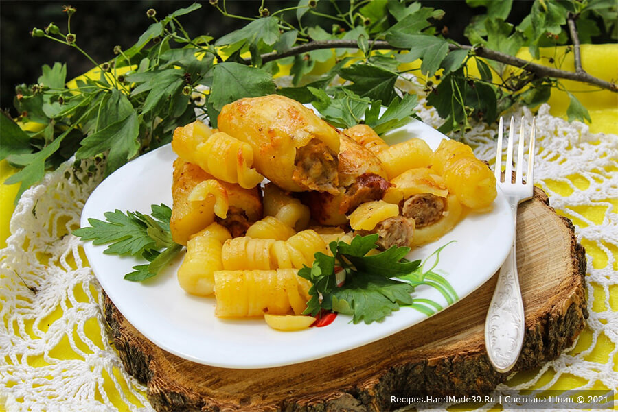 Фаршированный картофель в рукаве – пошаговый кулинарный рецепт с фото