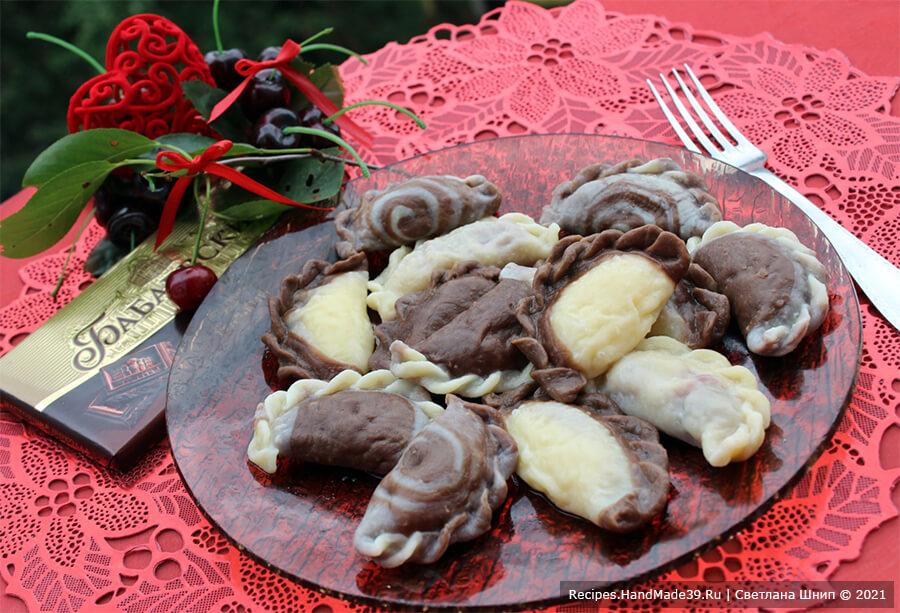 Шоколадные вареники – пошаговый кулинарный рецепт с фото