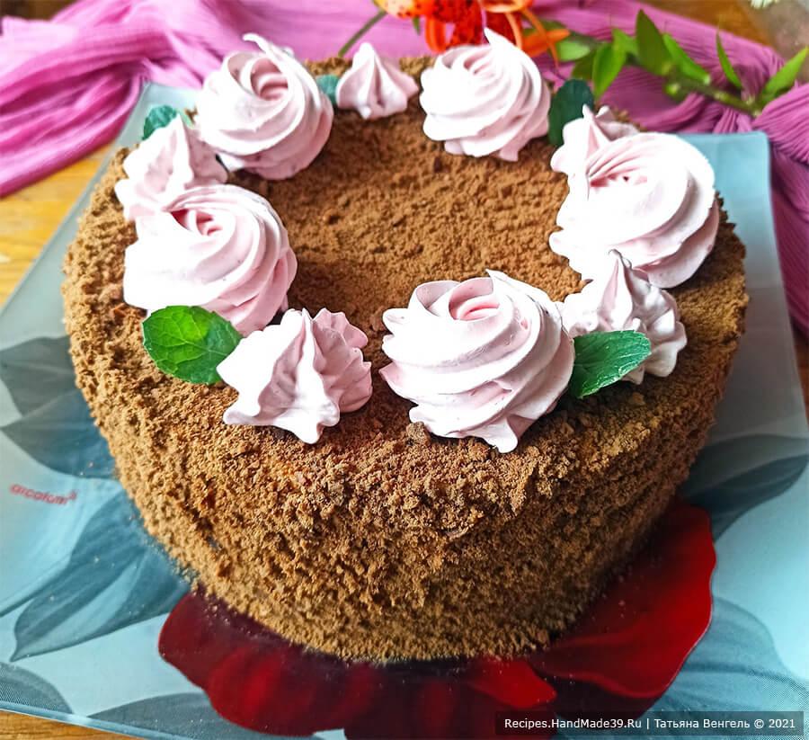 Медовик шоколадный на сковороде – пошаговый кулинарный рецепт с фото