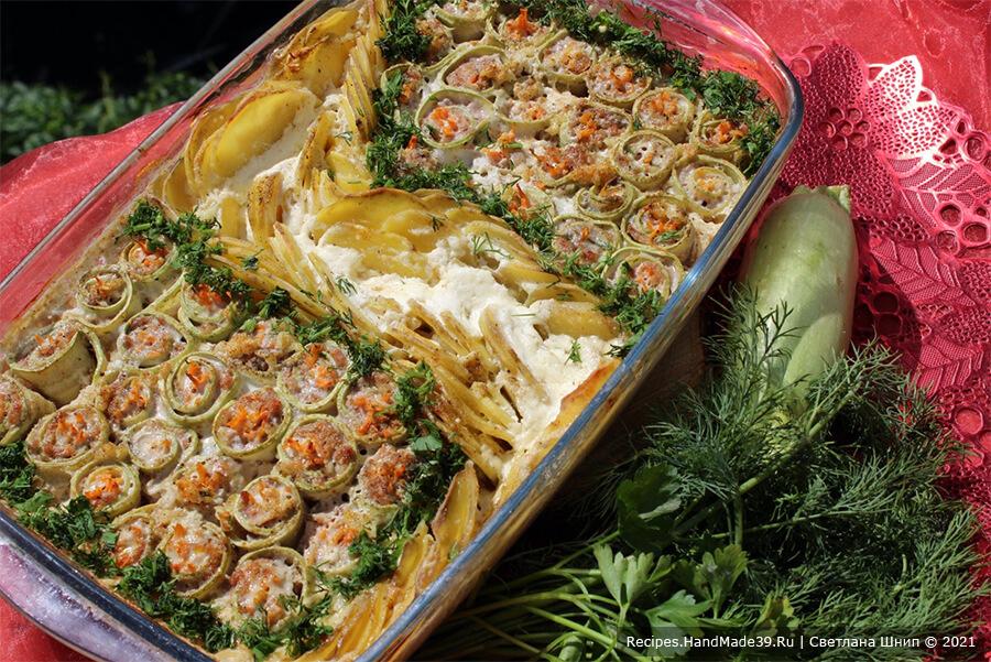 Рулетики из кабачков с фаршем – пошаговый кулинарный рецепт с фото