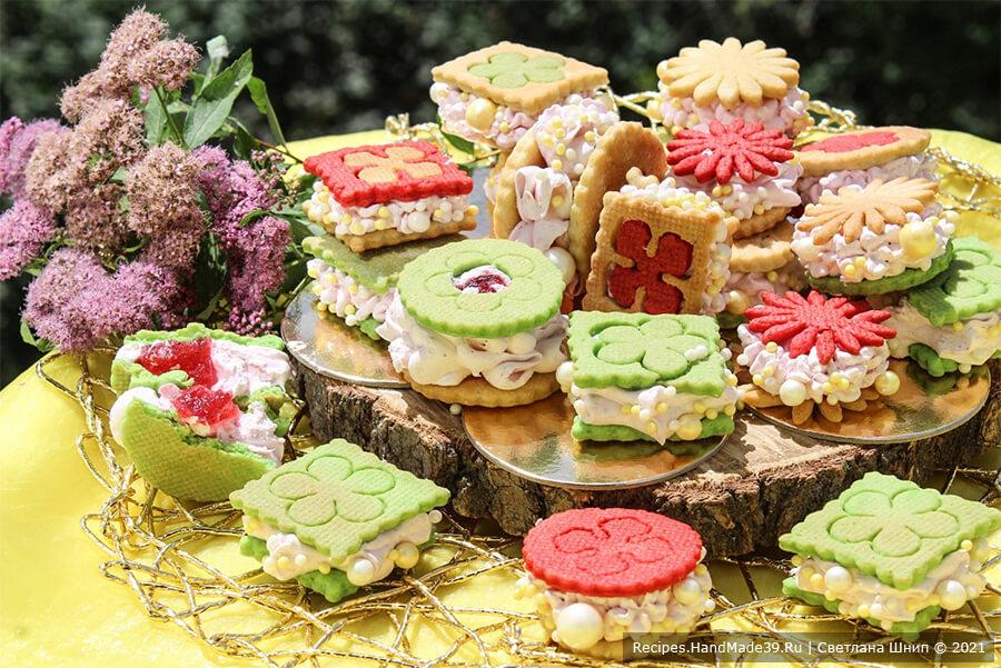 Зефиросэндвич с клубничным зефиром – пошаговый кулинарный рецепт с фото