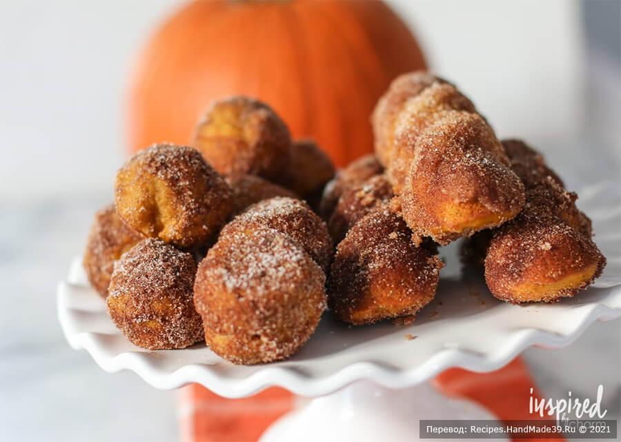 Тыквенные пончики – пошаговый кулинарный рецепт с фото